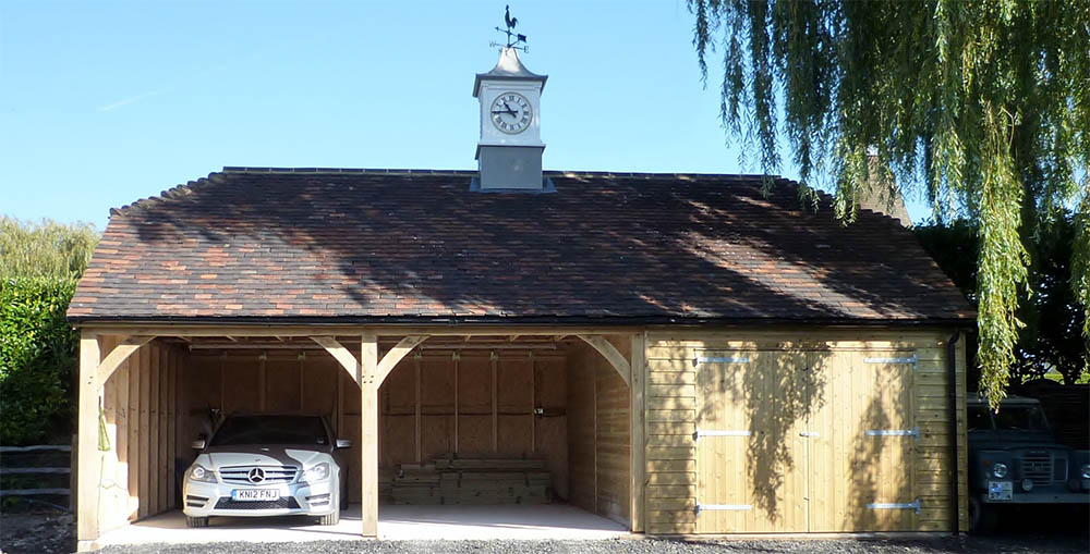 Double Bay Car Barn Garage with workshop