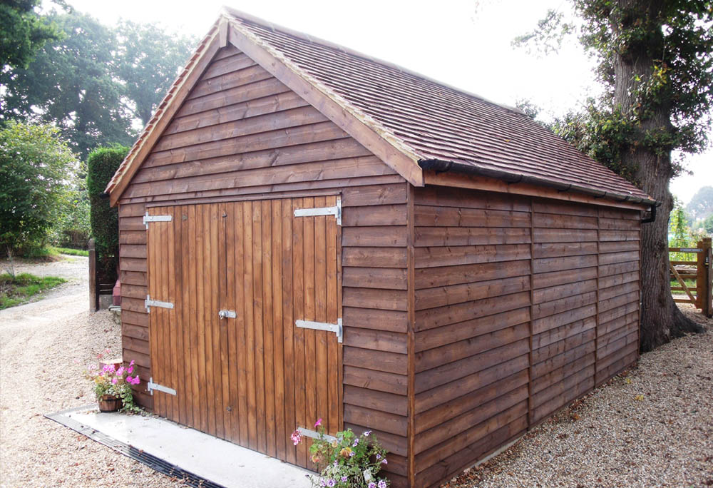 Single Timber Garage with pitched roof