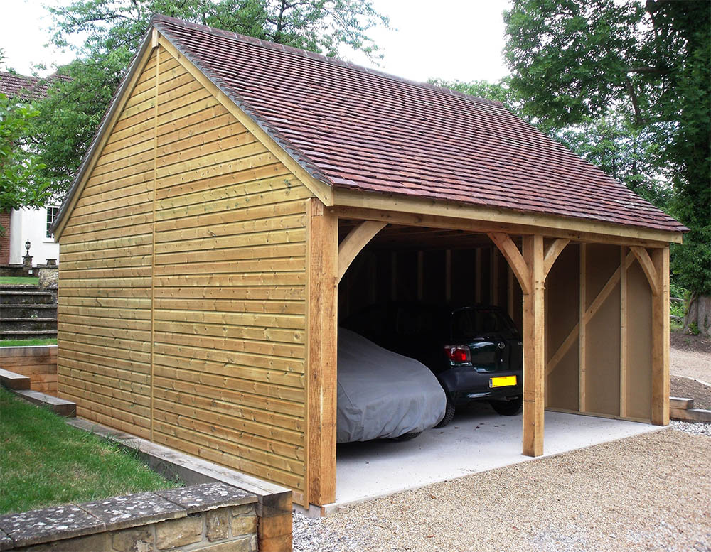 Self Build Timber Frame Garage Kits, How Much Does A Prefab Garage Cost Uk